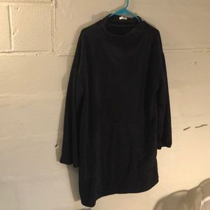 Max studio black velvet sweater dress